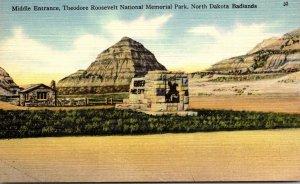 North Dakota Badlands Theodore Roosevelt National Memorial Park Middle Entrance