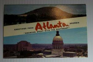 Vintage Postcard Atlanta Georgia Stone Mountain State Capitol building 1984  493