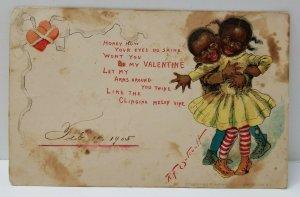 1903 Outcault Valentine 1905 to West Summerville ME Postcard N12