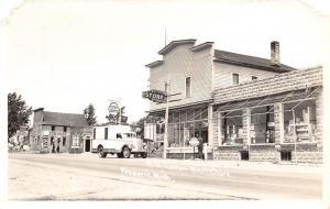 Frederic MI~Lozen General Store~Cities Service~Standard Oil Gas Pumps~1947 RPPC