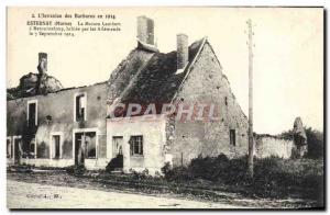 Old Postcard Esternay The Lambert House Retourneloup Army