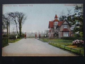 Birmingham HANDSWORTH PARK Entrance Gate - Old Postcard
