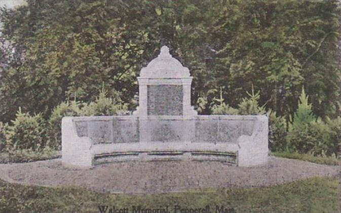 Massachusetts Pepperell Walcott Memorial