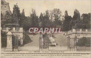 Postcard Old Rennes Tabor Entree Paris street this Staircase formerly situate...