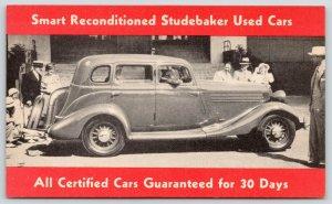 c1940 Studebaker w/Smooth Sweeping Running Board~Used Cars Advertising~Guarantee