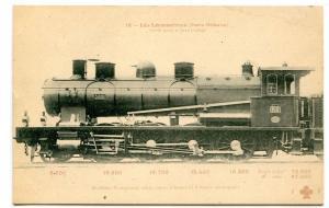 Machine Compound Train Railroad Paris Orleans Les Locomotives France postcard