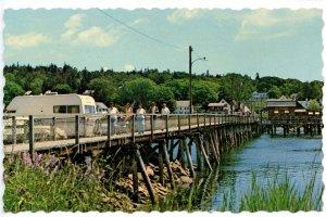 ME - Boothbay Harbor. Footbridge Across Harbor