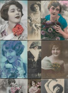 Art Nouveau - Ladies Lot of 20 Postcards 01.08