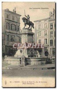 Old Postcard Nancy Statue of Rene II, Duke of Lorraine Place Saint Epvre