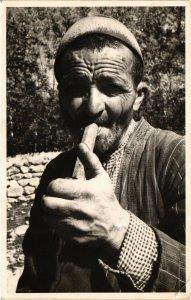 PC CPA IRAN, TEHERAN, TYPICAL MAN SMOKING, PHOTO POSTCARD (b4990)