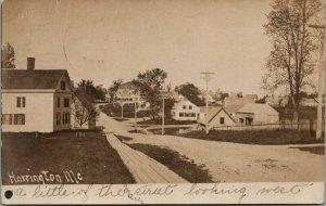 Harrington ME A Little of the Street~Plank Sidewalk~Big & Little Homes~1906 RPPC