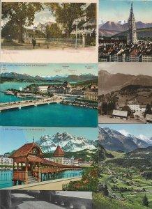Switzerland - Postcard Lot of 20 RPPC and Printed - 01.02