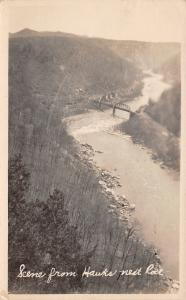 White Sulphur Springs WV New River View From Hawk's Nest Rock RPPC