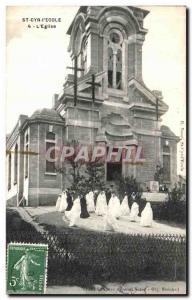 Old Postcard St Cyr L Ecole The Church Wedding