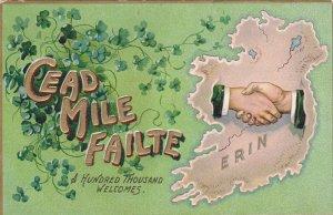 SAINT PATRICK´S DAY, 1900-1910´s; The Emerald Isle, Cead Mile Failte A Hund...