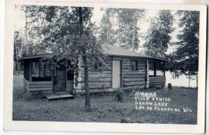RPPC, Hiaqua Villa Venise, Squaw Lake, Lac Du Flambeau Wis