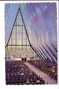 Protestant Chapel, US Air Force Academy, Colorado Springs, Colorado, Interior...
