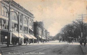massachusetts East Waltham Main Street looking East.