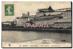 Old Postcard Beziers Saint Nazaire Saint Jacques The Barracks
