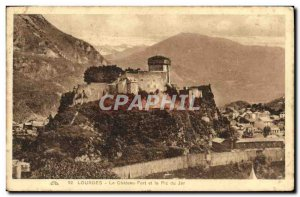 Old Postcard The Chateau Lourdes and the Pic du Jer