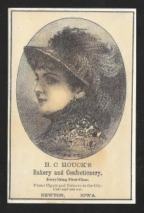 VICTORIAN TRADE CARD HC Houck's Bakery & Confectionery