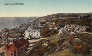 SANDGATE KENT UK~WITH CASTLE-PANORAMIC VIEW POSTCARD