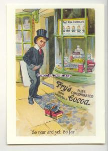 ad1008 - Fry's Cocoa & Milk Chocolate, Boy counts money - Modern Advert Postcard