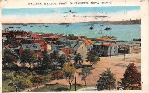 Canada Nova Scotia, Halifax Harbor from Dartmouth, boats, panorama 1929