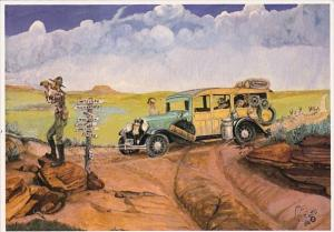 South Dakota Looking For Wall Drug In The Old Days Painting By Boots Reynolds