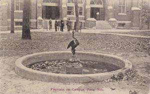 PERU , Nebraska , PU-1914 ; Fountain on Campus