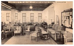 New York City Lounge Room Defense Recreation Committee Headquarters