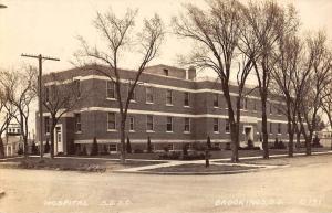 Brookings South Dakota Hospital Real Photo Antique Postcard K82180