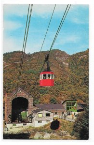 NH Franconia Notch Cannon Mountain Aerial Tramway Valley Station Vntg Postcard