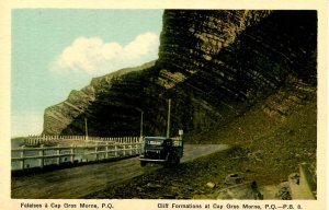 Canada - QC, Cap Gros Morne. Cliff Formation