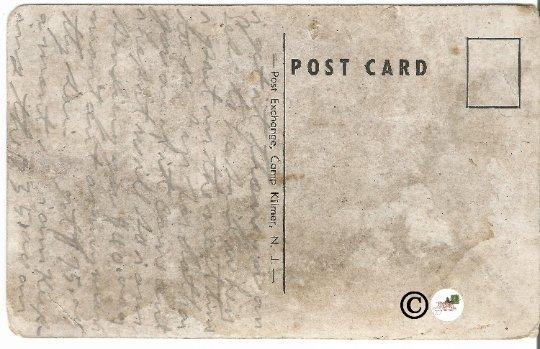 Dining Hall Camp Kilmer N.J. New Jersey Vintage Postcard White Border Military
