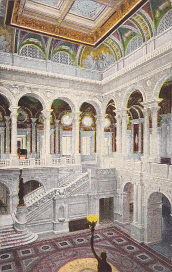 The Central Stair Hall Of The Library Of Congress Washington DC