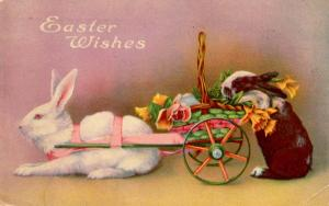Greeting - Easter. Rabbits