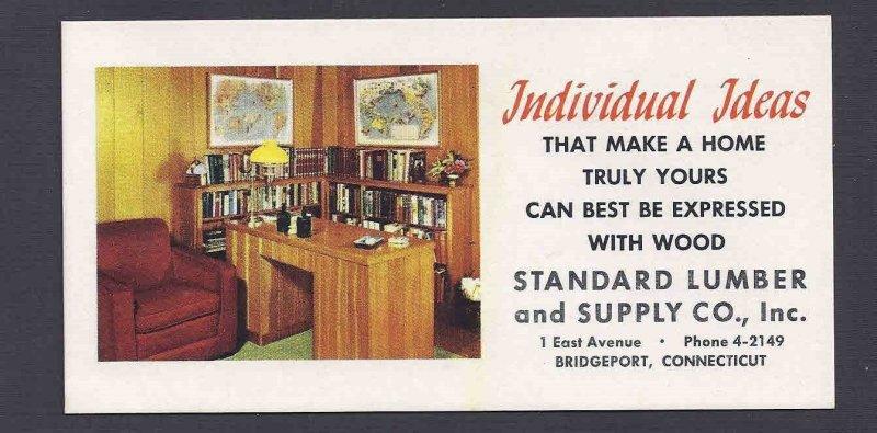 Ca 1960 BLOTTER LIGHTLY USED ADV STANDARD LUMBER CO, BRIDGEPORT CT