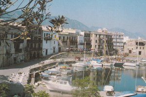 GIRNE, Cyprus, 1950-1970s; Girne Limani, Sailboats At Harbour, View #2