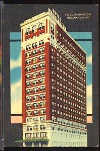 USA Postcard Hotel Washington Indianapolis Indiana