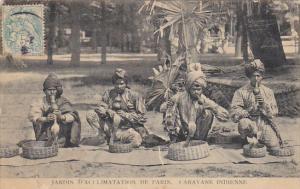 Snake Charmers Jardin D'Acclimation De Paris Caravane Indienne Hagenbeck Circ...