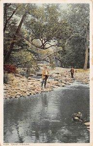 Fishing Postcard Man by a Stream 1926