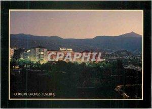 Postcard Modern Islas canarias casino Taoro puerto y el Teide in Tenerife cruz