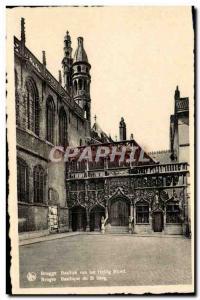 Postcard Modern Bruges Basilica of St Blood