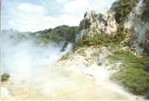 New Zealand, Cathedral Rocks, Waimangu Valley, Rotorua