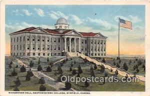 College Vintage Postcard Winfield, Kansas, USA College Vintage Postcard Richa...