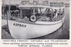 Florida Tarpon Springs Aspasia &  Plastiras Deep Sea Fishing Boats