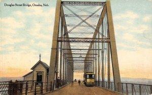 Douglas Street Bridge Omaha, Nebraska Vintage Postcard ca 1910s