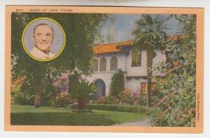 P2001, ca1942 postcard home jose iturbi Spanish-born pianist & actor unused