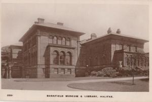 Bankfield Museum Library Halifax Old Real Photo Postcard